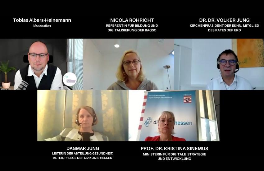 """Podiumsdiskussion """"Altern in der digitalen Welt"""" vom 27.08.2020"""